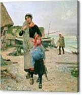 Fisherfolk Returning With Their Nets 1882 Henry Bacon Canvas Print