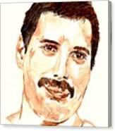 Freddie Mercury Portrait Canvas Print