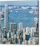 Hong Kong Harbour View From The Peak Canvas Print