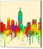 Indiana Indianapolis Skyline Canvas Print