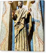 Interior Statue - San Xavier Mission - Tucson Arizona Canvas Print