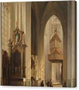 Interior View Of Namur Cathedral Canvas Print