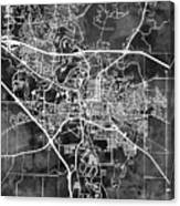 Iowa City Map Canvas Print