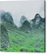 Karst Mountains Rural Scenery Canvas Print