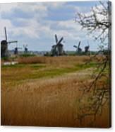 Kinderdijk Windmills Canvas Print