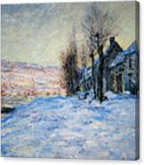 Lavacourt Under Snow Canvas Print