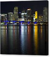 Miami Downtown Skyline Canvas Print