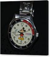 Mickey Mouse Watch Canvas Print