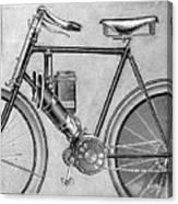 Motorcycle, 1895 Canvas Print