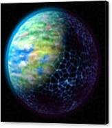 Network Planet Canvas Print