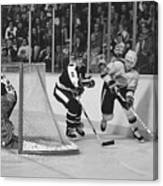 Nhl Hockey At The Pacific Coliseum Canvas Print