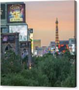 november 2017 Las Vegas, Nevada - evening shot of eiffel tower a Canvas Print