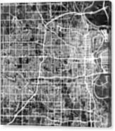 Omaha Nebraska City Map Canvas Print