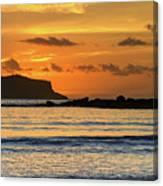 Orange Sunrise Seascape Canvas Print