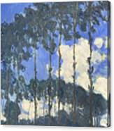 Poplars On The Epte Canvas Print