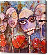 5 Poppies For The Dead Canvas Print