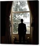 President Barack Obama Looks Canvas Print