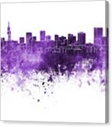 Pretoria Skyline In Watercolor Background Canvas Print