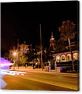 St Augustine City Street Scenes Atnight Canvas Print