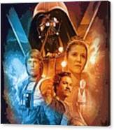 Star Wars Episode 2 Art Canvas Print