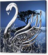 Swan Art. Canvas Print