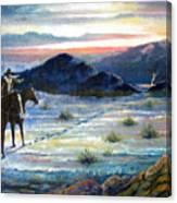 Texas Rangers On His Trail Canvas Print