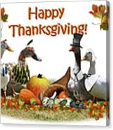 Thanksgiving Ducks Canvas Print