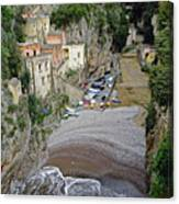 This Is A View Of Furore A Small Village Located On The Amalfi Coast In Italy  Canvas Print