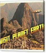 Ufo Postcards Home By Raphael Terra Canvas Print