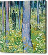 Undergrowth With Two Figures Canvas Print