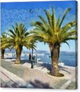 Walkway In Nafplio Town Canvas Print
