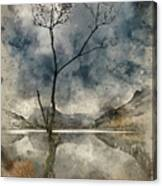 Watercolour Painting Of Beautiful Autumn Fall Landscape Image Of Canvas Print