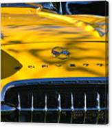 Yellow Corvette Canvas Print