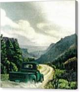 '50 Chevy Pickup In Unaweep Canyon Canvas Print