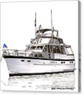 50 Foot Hatteras Motoryacht Canvas Print