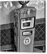 50's Gas Pump Bw Canvas Print