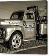 50's Wrecker Truck Canvas Print