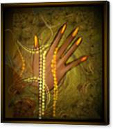 544   Gold Fingers  2017 V Canvas Print