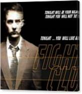 5499 Fight Club Hd S Black Canvas Print