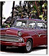 55 Ford Fairlane Canvas Print