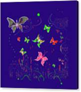 558   Butterflies  V Canvas Print