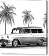 56 Chevy Wagon Canvas Print