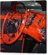 57 Chevy Bel Air Interior Canvas Print