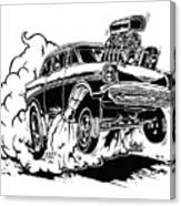 '57 Gasser Cartoon Canvas Print