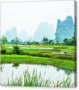 Karst Rural Scenery In Spring Canvas Print