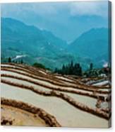 Longji Terraced Fields Scenery Canvas Print