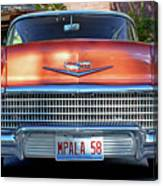 '58 Chevy Comin' Atcha Canvas Print