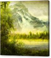 Landscape Nature Drawing Canvas Print