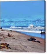 58- Sapphire Surf Canvas Print