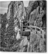 5807- Yellow Mountains Black And White Canvas Print